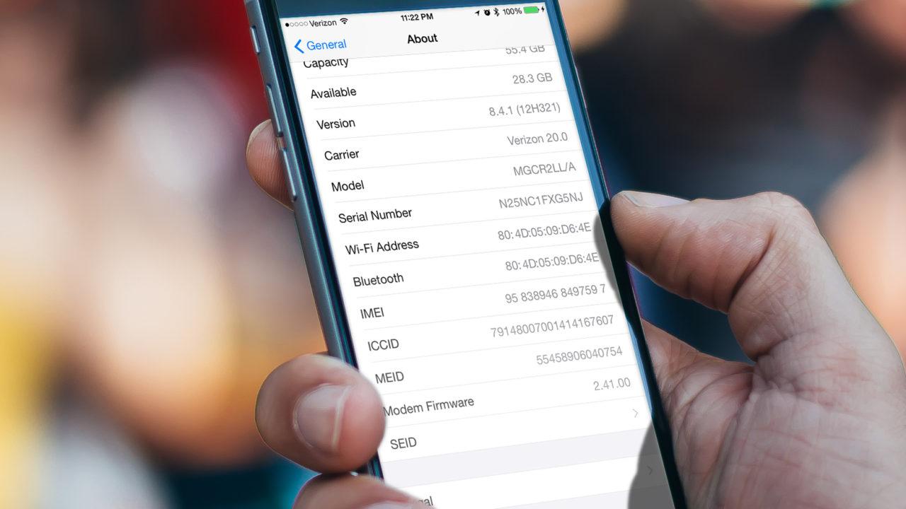 iphone serial number 2 - فروش سریال های آیفون و آی پد - دریافت اطلاعات مک آدرس وای فای و بلوتوث آیفون